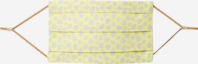 CODELLO Maska z materiału 'COVER UP HEARTS' w kolorze żółtym: Widok z przodu