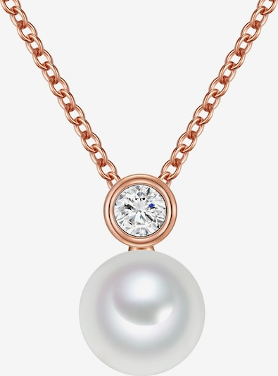 Valero Pearls Halskette in rosegold / perlweiß, Produktansicht