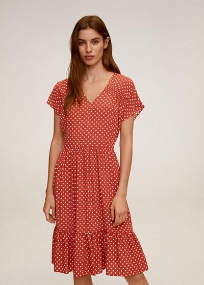 MANGO Kleid 'Laura' in grenadine / weiß, Modelansicht