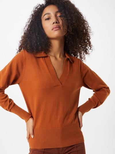 OBJECT Trui 'OBJMIRANDA' in de kleur Oranjerood: Vooraanzicht