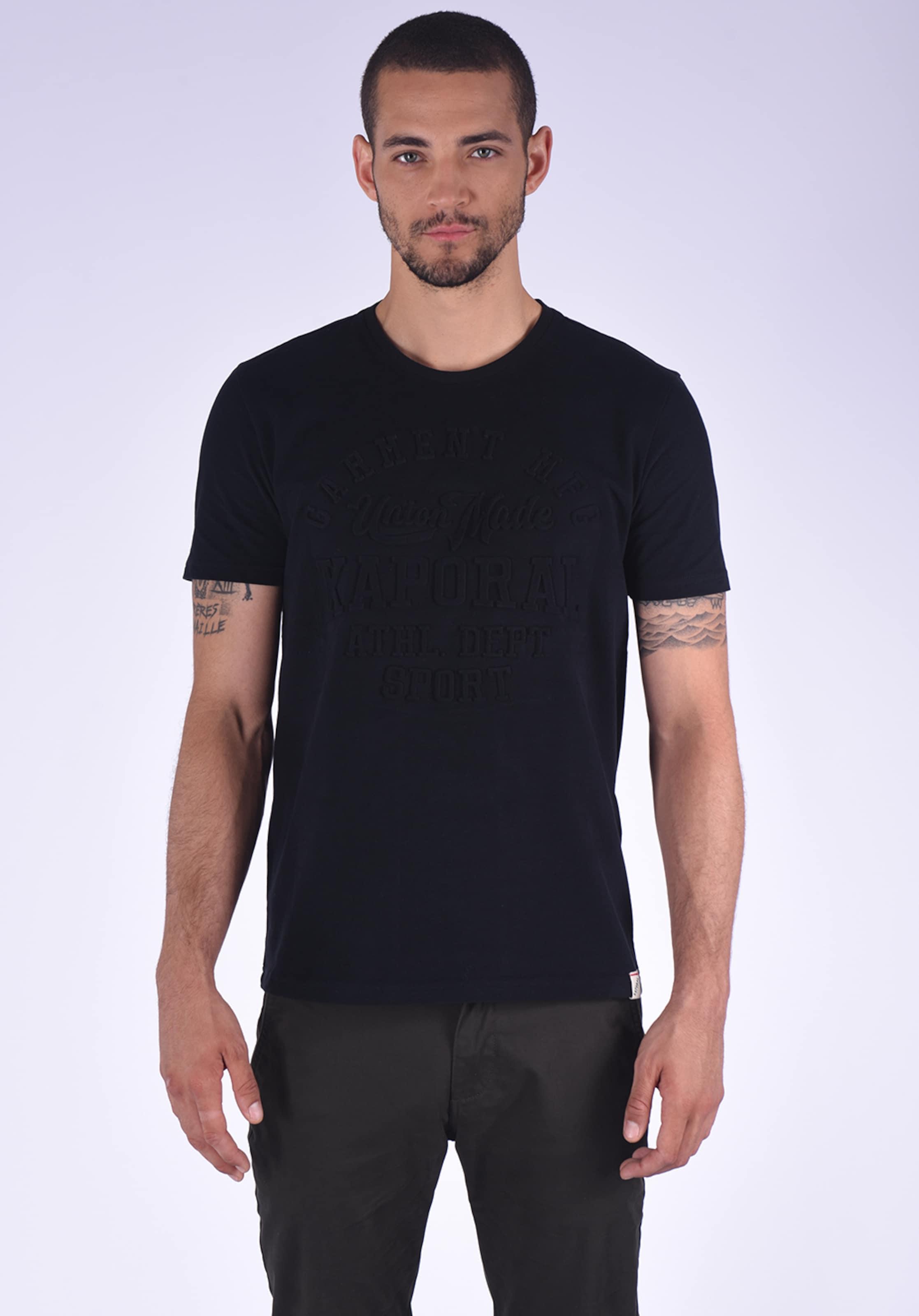 Klassischen Im Schwarz Folk Look White T In Kaporal shirt WH9DE2I