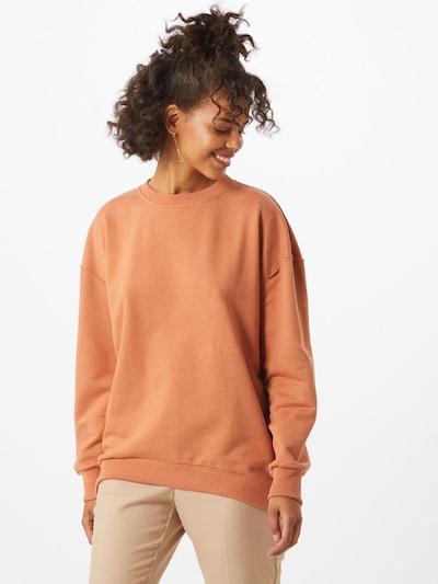 SISTERS POINT Sweat-shirt 'MAI' en cognac, Vue avec modèle