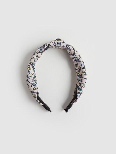 EDITED Šperky do vlasů 'Lionne' - béžová / žlutá / zelená: Pohled zepředu