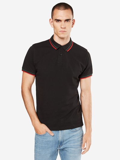 Urban Classics Shirt in grün / rot / schwarz: Frontalansicht