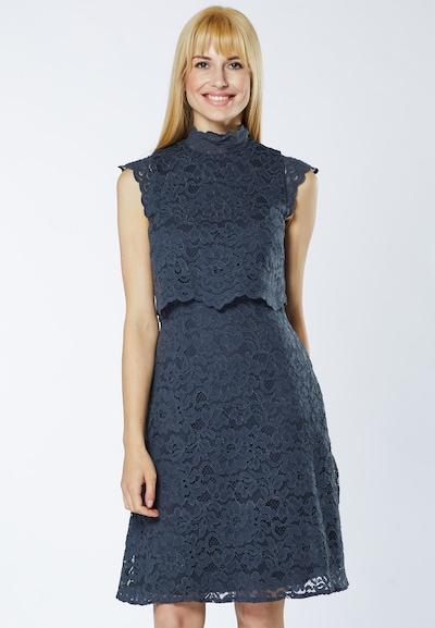 Young Couture by BARBARA SCHWARZER Kleid in taubenblau, Modelansicht