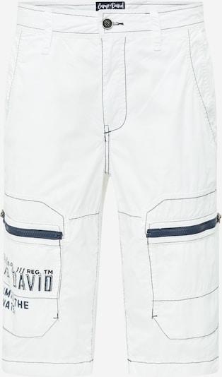 CAMP DAVID Klapptaskutega püksid meresinine / valge, Tootevaade