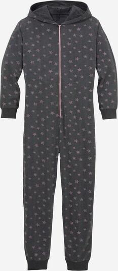 Petite Fleur Kids Overall in anthrazit / rosa, Produktansicht