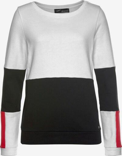 ARIZONA Sweatshirt in marine / rot / weißmeliert, Produktansicht