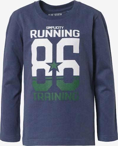 BLUE SEVEN Shirt in dunkelblau / grün / weiß, Produktansicht