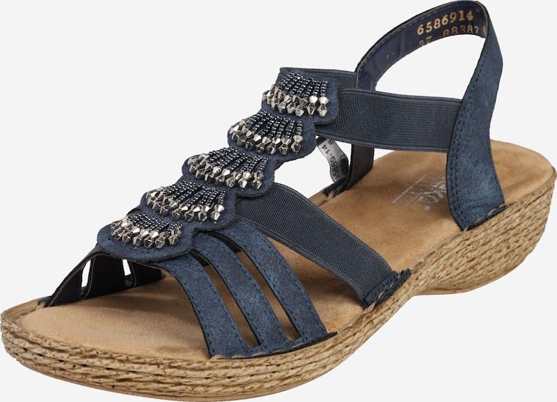RIEKER Sandale mit Perlen Verzierung in Marine | ABOUT YOU