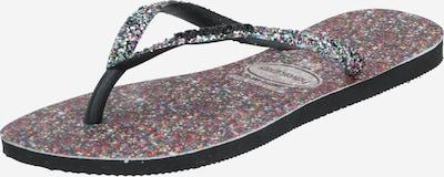 HAVAIANAS Slipper 'SLIM CARNAVAL' in schwarz / silber, Produktansicht