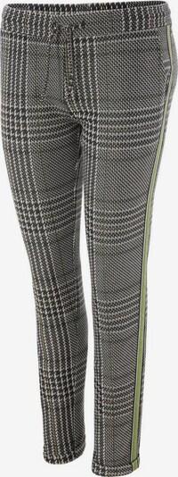 Aniston CASUAL Chinohose in grau / grün, Produktansicht