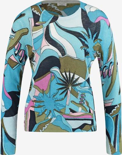 GERRY WEBER Pullover Langarm Rundhals Pullover aus Leinen in mischfarben, Produktansicht