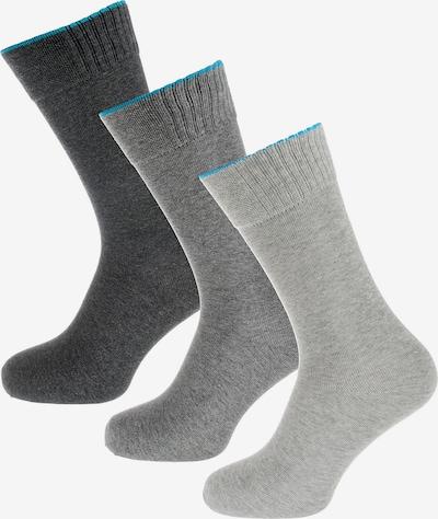 SKECHERS Socken in royalblau / basaltgrau / hellgrau / graumeliert, Produktansicht