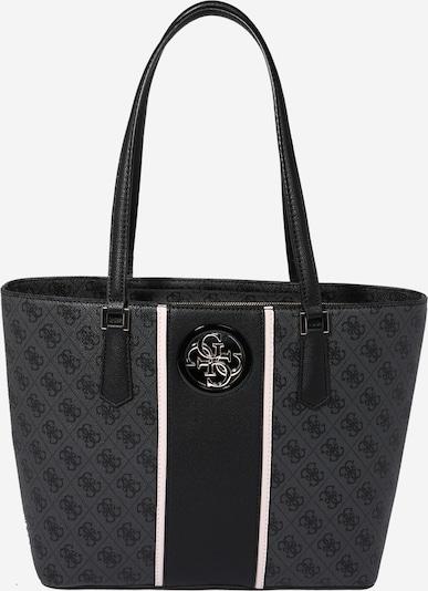 sötétszürke / fekete / fehér GUESS Shopper táska 'Open Road Tote', Termék nézet