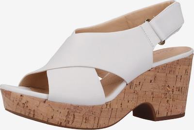 CLARKS Sandale in braun / weiß, Produktansicht
