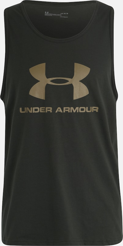 UNDER ARMOUR Tanktop in khaki / schwarz, Produktansicht