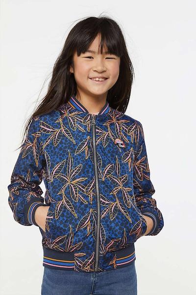 WE Fashion Jacke 'Aurora' in blau / dunkelgelb / pink / silber: Frontalansicht
