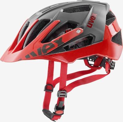 UVEX Fahrradhelm 'Quatro' in grau / rot, Produktansicht