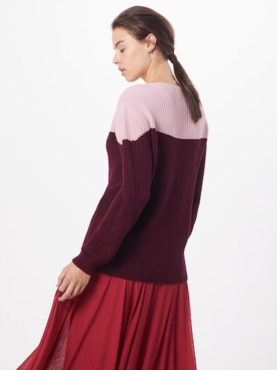 ABOUT YOU Pull-over 'Hanke' en rose / bordeaux: Vue de dos