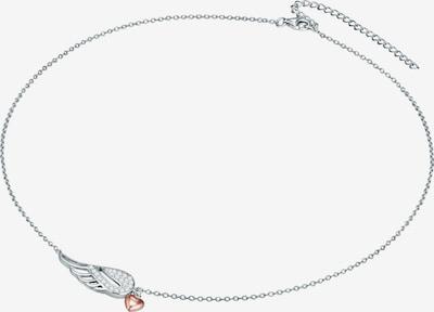 Rafaela Donata Halskette mit Herz-Flügel-Anhänger in rosegold / silber / transparent, Produktansicht
