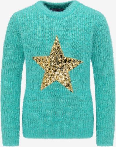 MYMO Pullover in türkis / gold, Produktansicht