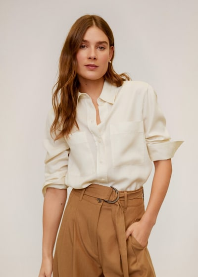 MANGO Bluse 'Classic' in nude, Modelansicht