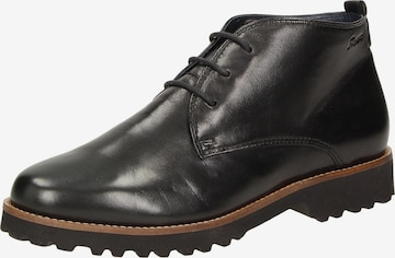 SIOUX Lace-Up Ankle Boots 'Meredith' in Black