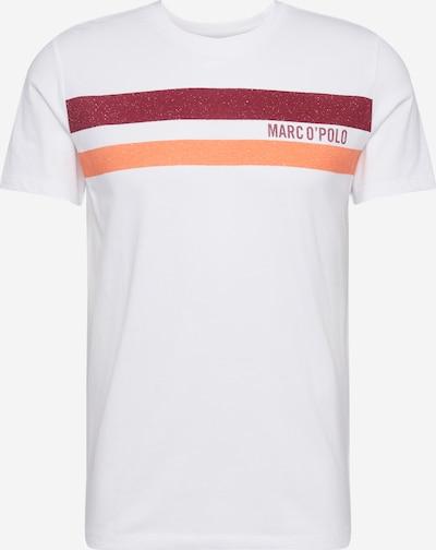 Marc O'Polo T-Shirt en orange / rouge clair / blanc, Vue avec produit