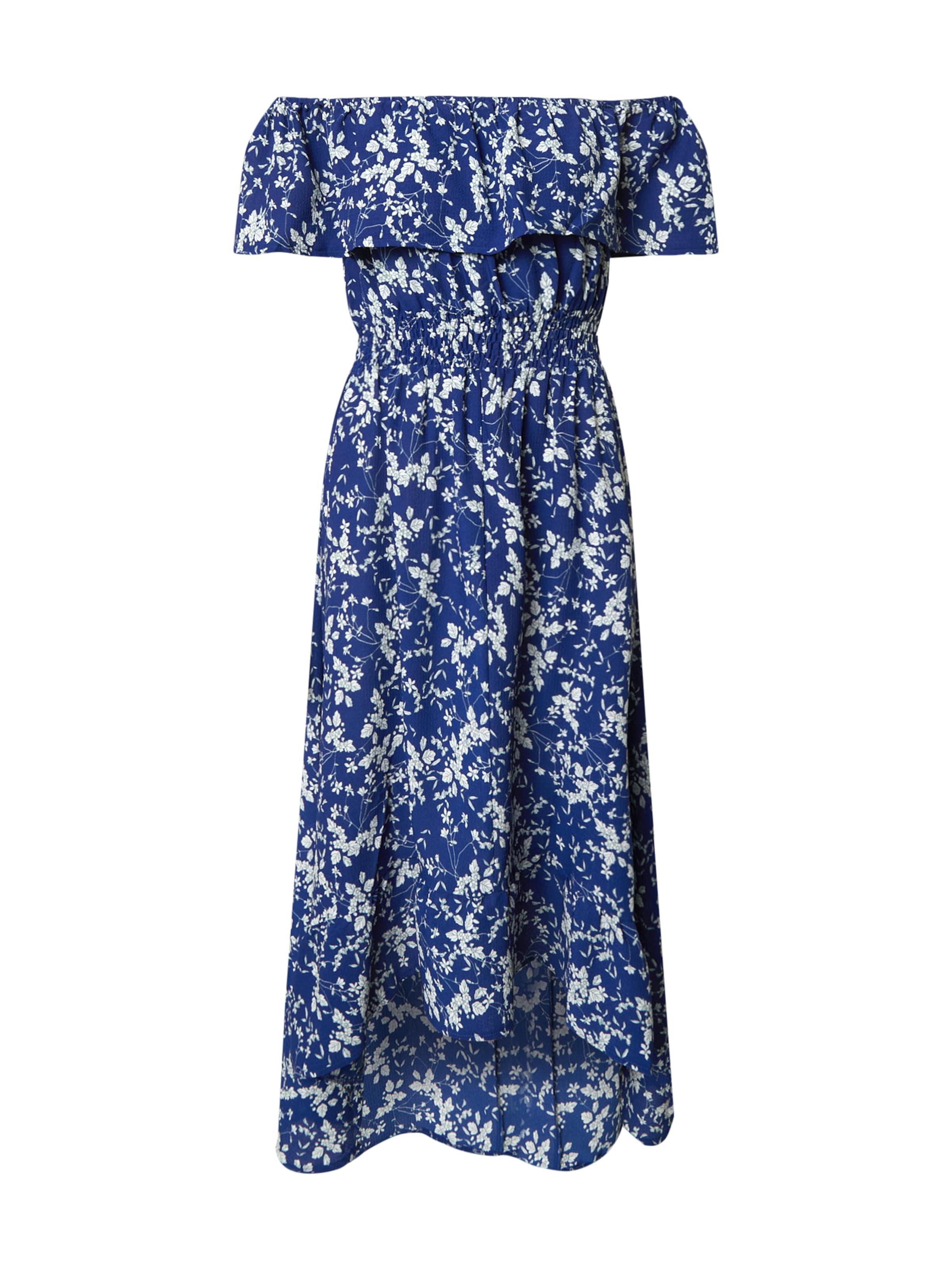Mela London Sommarklänning 'Bardot' i blå / vit