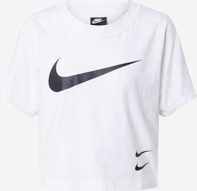 NIKE Funkcionalna majica 'Swoosh' | črna / bela barva, Prikaz izdelka