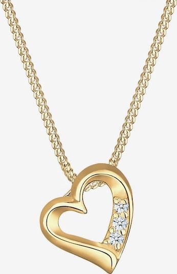 Diamore Kette 'Herz' in gold / transparent, Produktansicht