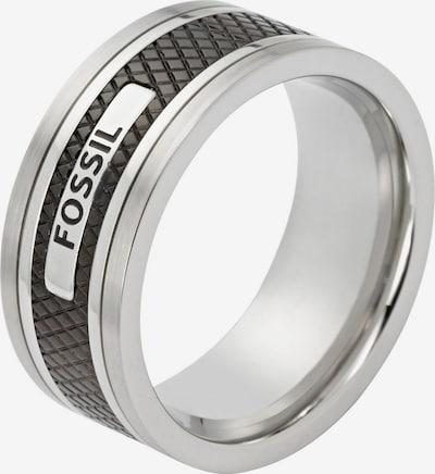 FOSSIL Ring in schwarz / silber, Produktansicht