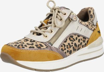 MUSTANG Sneaker in beige / braun / gelb, Produktansicht