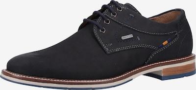 FRETZ MEN Chaussure à lacets en noir: Vue de face