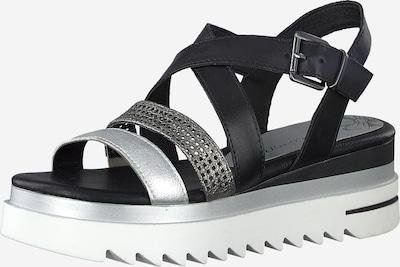 MARCO TOZZI Páskové sandály - černá / stříbrná, Produkt