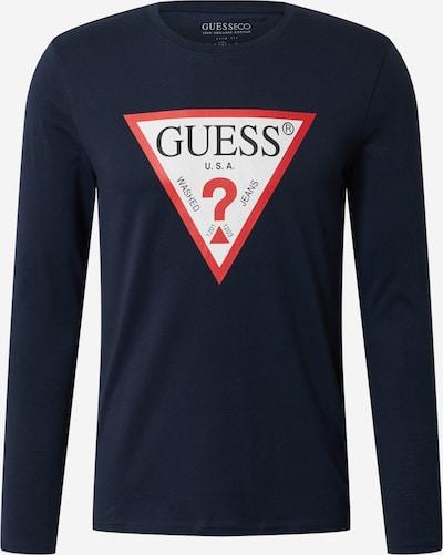 GUESS T-Shirt en bleu marine / rouge / blanc: Vue de face