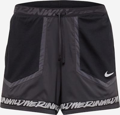 NIKE Sporthose 'Flex Stride Wild Run' in dunkelgrau / schwarz / weiß, Produktansicht