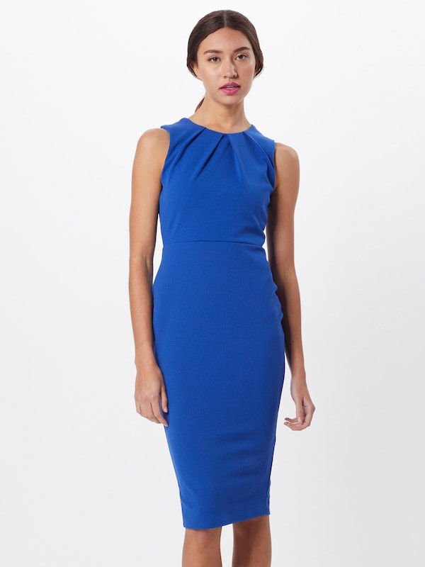 Boohoo Kleid 'Sleeveless Midi Dress' in blau / saphir, Modelansicht