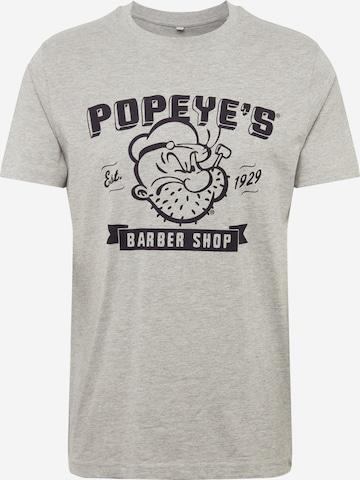 Merchcode Skjorte 'Popeye Barber Shop' i grå