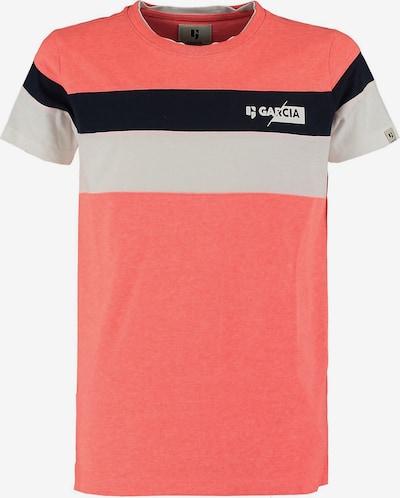 GARCIA T-Shirt in hellgrau / lachs / schwarz, Produktansicht