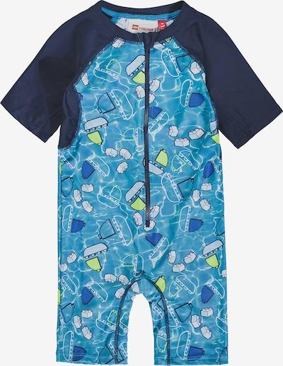 LEGO WEAR Schwimmanzug in hellblau / dunkelblau / gelb / weiß, Produktansicht