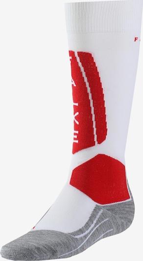 FALKE Socken 'Falke SK5 W' in grau / rot / weiß, Produktansicht