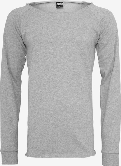 Urban Classics Long Open Edge Terry Crewneck in hellgrau: Frontalansicht