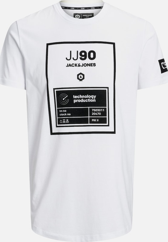 JACK & JONES T-Shirt in weiß: Frontalansicht