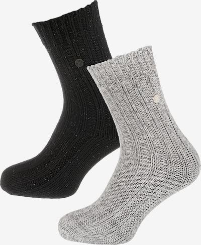 BIRKENSTOCK Socks in Grey / Black, Item view