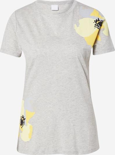 Marškinėliai 'Tebloom' iš BOSS , spalva - šviesiai geltona / pilka / Sidabras, Prekių apžvalga
