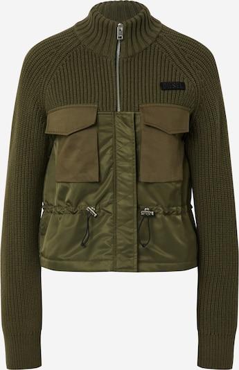 DIESEL Prehodna jakna 'M-EKA KNITWEAR' | zelena barva, Prikaz izdelka