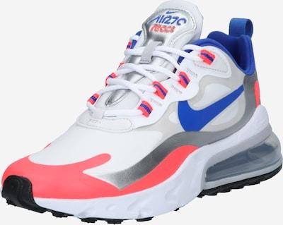 Nike Sportswear Trampki niskie 'Air Max 270 React' w kolorze niebieski / łososiowy / srebrny / białym: Widok z przodu
