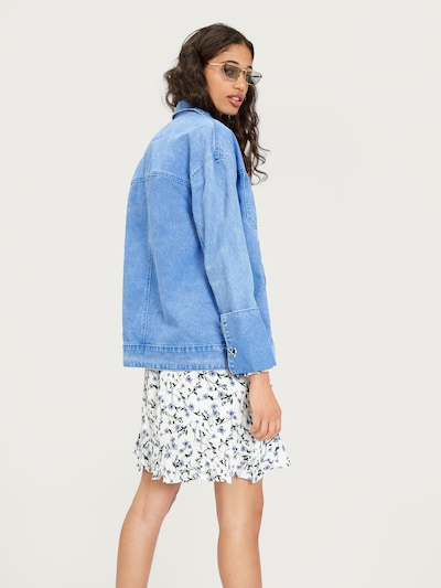 EDITED Jeansjacke 'Fina' in blue denim: Rückansicht